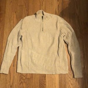 Land's End small beige pullover sweater